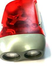 Hand Pressing 3 LED Crank Power Dynamo Wind Up Flashlight Torch Night Lamp Light