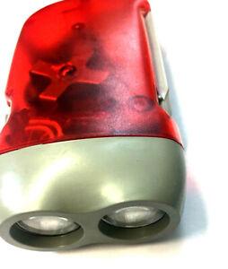 Hand Pressing LED Crank Power Dynamo Wind Up Flashlight Torch Night Lamp Light