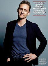 (Uk) Hello Magazine April 2016 Tom Hiddleston Photo Interview