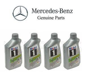 Set of 4 Engine Oils Low Ash MOBIL 1 ESP X1 0W-30 For Mercedes W166 W207 X166