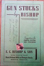 Gun/Rifle Stock 1930s Trade Catalog - E. C. Bishop & Son - Warsaw, MO