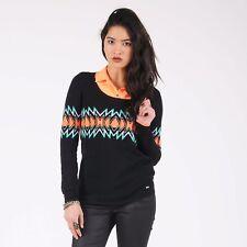 NWT $49 Womens VOLCOM Chill Pill Pullover Sweater Black Jrs Sz M Medium 12