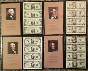 World Reserve Monetary Exchange Uncut Sheets-1 lot 4 denominations $1 $5 $10 $20