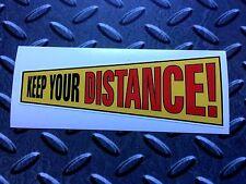 Mantenga su distancia Clásico Retro van Parachoques Pegatina Calcomanía 1 de descuento 125mm
