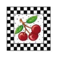 New ListingMary Engelbreit Wallies Wallpaper Cutouts 2 Pkgs Checks & Cherries 12915