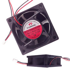 12V DC Fan 2Pin Brushless Computer Cooling Fan Dual Ball Bearing 60x60x25mm New
