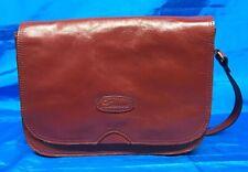 ASHWOOD Red / Brown Leather Cross Body Shoulder Bag