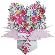 Flowers Pop Up Greeting Card Second Nature 3D Pop Up Cards Keepsake