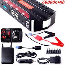 High Power 68800mAh Car Jump Starter Power Bank Rechargable Battery 4USB Charger