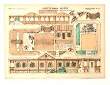 Pellerin Imagerie D'Epinal- 817 Habitation Russe Moyennes vintage paper model