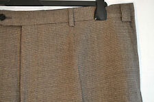 "Vintage Messori beige wool tiny hound tooth trousers W 42"" made Italy Mod Skin"