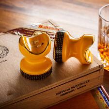 2 PCS COHIBA Classic Yellow Ceramics Travel Cigar Holder Showing Stand Ashtray