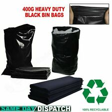 More details for heavy duty extra stong black rubbish rubble sacks waste garden builder bags 400g