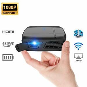 Tragbarer WIFI 3D Projektor 1080P Mini LED Heimkino Beamer Präsentation Film HD