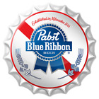 "Pabst Blue Ribbon Beer Bottle Cap Tin Metal Bar Sign Made man cave USA 18"""