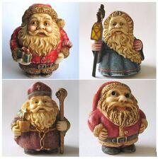 Lot of 4 x Santa Father Christmas Oddbod Figurines - NIB -  MPS Harmony Kingdom