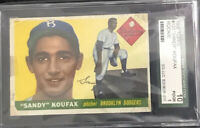 SANDY KOUFAX 1955 TOPPS ROOKIE CARD #123 HOF DODGERS RC📈INVESTMENT CARD🔥SGC 1