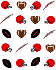 Black and Red Football Waterslide /Water Transfer Nail Decals/Nail art