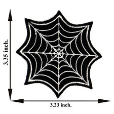 Black Spider Web Cobweb Animal Halloween Tattoo Applique Iron on Patch Sew