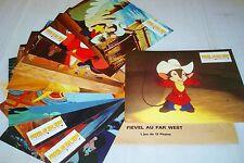 FIEVEL au far west ! Don Bluth jeu 12 photos cinema lobby cards animation