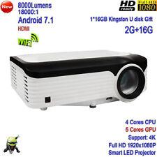 2020 New 4k High Brightness 8000 Lumens WiFi HD1080P LAN Smart LED Projector