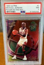 Michael Jordan 1993 Ultra Power In The Key #2 PSA 7 - HOF - Chicago Bulls