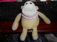 Medium PG Tips J Vegas Monkey TV Advert Knitted Purple Loom Band necklace