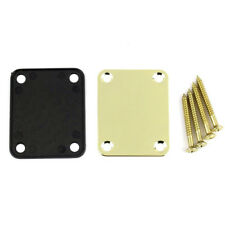 Gold Neck Plate with 4 Screws Replacement Part for Fender Strat Electric Guitar