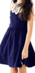 """NWT Lilly Pulitzer Girl's Linley Dress """"True Navy"""" 4"""