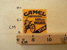 STICKER,DECAL VOLKEL MX MOTORCROSS 500 CC 27 JULI CAMEL MX