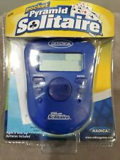 Radica Pocket Pyramid Solitaire 2005 Hand held Electronic Game Used Tested