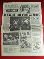 journal l'equipe 19/09/83 FOOTBALL MONACO AUXERRE MOTO BOL D'OR D.SARRON TENNIS