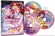 No Game, No Life Complete Ep. 1-12 (3-Disc) Anime DVD R1 Anime Lot New