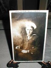 1921 dated U.S. NAVY SAILOR'S NAMED PHOTO POSTCARD FROM THE U.S.S. NORTH DAKOTA