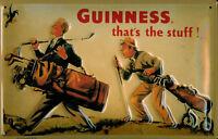 Guinness Golfista Letrero de Metal 3D en Relieve Arqueado Tin Sign 20 X 30CM