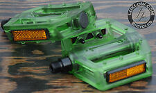 "Green Iped Platform Bicycle Pedals 9/16""  BMX MTB FiXiE Track Road Bike Cruiser"