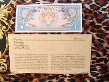 Great Historic Banknotes Bhutan 1 Ngultrum 1981  P5 UNC prefix A/1