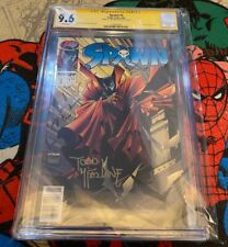 SPAWN #3 CGC 9.6 WHITE pages NEWSSTAND Edition Signed by Todd Mcfarlane