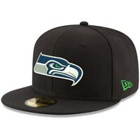 Seattle Seahawks Hat New Era 59Fifty Men's NFL Football 5950 Fitted Size 7 Black