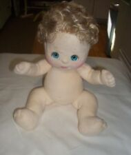 Vintage Mattel 1985 My Child Doll Girl Blonde Curly Hair Turquoise Blue Eyes