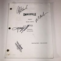 Autographed Smallville Shooting Script Kinetic Sea 1 Ep 13 Welling Mack Kruek