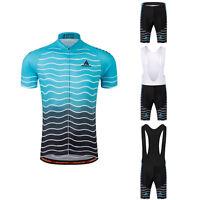 Men's Road Bike Gear Kit Short Sleeve Cycling Jersey and (Bib) Shorts Set S-5XL