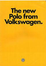 Volkswagen Polo Mk2 Hatchback 1981-82 UK Market Launch 8pp Sales Brochure
