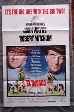El Dorado 1sh Movie poster JOHN WAYNE Robert Mitchum WESTERN Howard Hawks 1967
