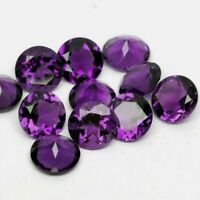 Wholesale Lot 4mm Round Facet Natural Siberian Amethyst Loose Calibrated Gems