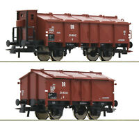"""Roco H0 76306 Klappdeckelwagen-Set der DR """"Neuheit 2020"""" - NEU + OVP"""