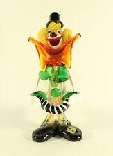 Murano Large Bow Clown With Ball Art Glass Veneziano Italian Figurine W/ Label