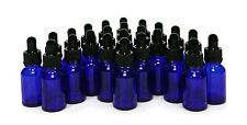 24 Cobalt blue 15 ml (1/2 oz) Glass Bottles with Glass Eye Drop... Free Shipping
