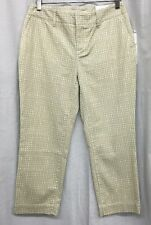 COLDWATER CREEK 4 P XS Beige White Soft Check Slim Ankle Jean Jeans