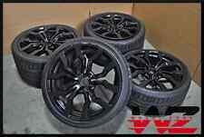 "Complete Set of Four 09-15 19"" Audi R8 Black Wheels Tires Factory Original OEM"